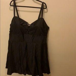 Black one piece swim dress